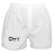 Eat. Sleep. Fly. (Pilot/Plane Boxer Shorts