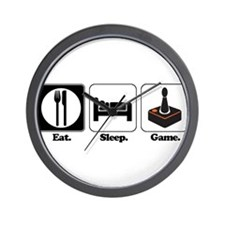 Eat. Sleep. Game. (Gamer/Vide Wall Clock