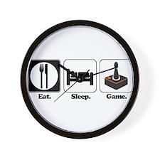 Eat. Sleep. Game. (Gamer/Vide Wall Clock