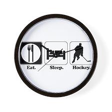 Eat. Sleep. Hockey. Wall Clock