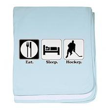 Eat. Sleep. Hockey. Infant Blanket