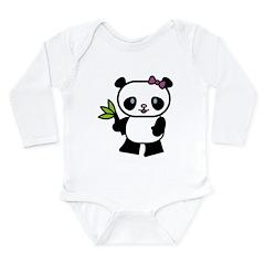 Cute Panda Long Sleeve Infant Bodysuit