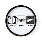 Eat. Sleep. Hunt. Wall Clock