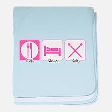 Eat. Sleep. Knit. Infant Blanket