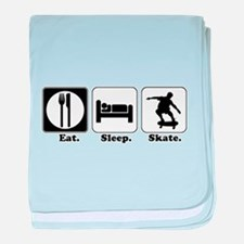 Eat. Sleep. Skate. (Skateboar Infant Blanket