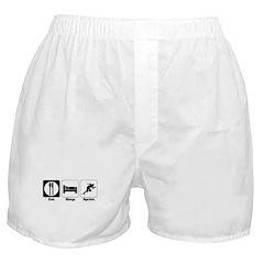 Eat. Sleep. Sprint. Boxer Shorts
