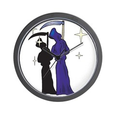 Grim Reapers on the Prowl Wall Clock