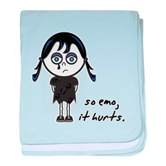 So Emo, It Hurts (Emo Girl) Infant Blanket