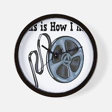 How I Roll (Movie Film) Wall Clock