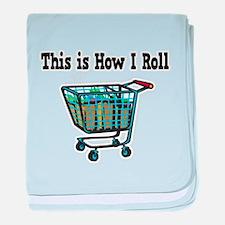 How I Roll (Shopping Cart) Infant Blanket