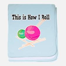 How I Roll (Yarn) Infant Blanket