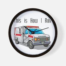 How I Roll (Ambulance) Wall Clock