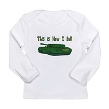 How I Roll (Military/Army Tan Long Sleeve Infant T