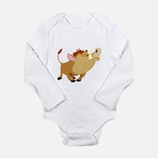 Funny Stubborn Wild Boar Long Sleeve Infant Bodysu