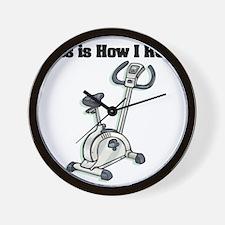 How I Roll (Exercise Bike) Wall Clock