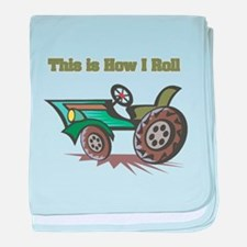 How I Roll (Farming Tractor) Infant Blanket