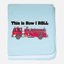 How I Roll (Fire Engine/Truck Infant Blanket