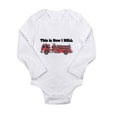 How I Roll (Fire Engine/Truck Onesie Romper Suit