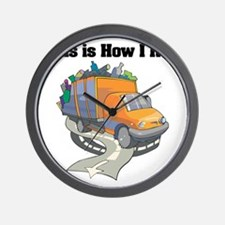 How I Roll (Garbage Truck) Wall Clock