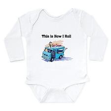 How I Roll (Ice Cream Truck) Long Sleeve Infant Bo