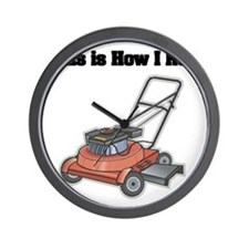 How I Roll (Lawn Mower) Wall Clock