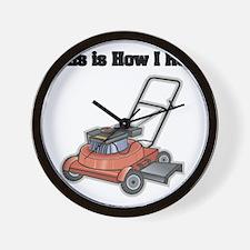 How I Roll (Lawn Mower) Wall Clock