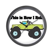 How I Roll (Monster Truck) Wall Clock