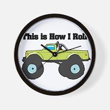 How I Roll (Monster Truck) Wall Clock
