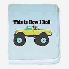 How I Roll (Monster Truck) Infant Blanket