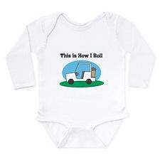 How I Roll (Golf Cart) Long Sleeve Infant Bodysuit
