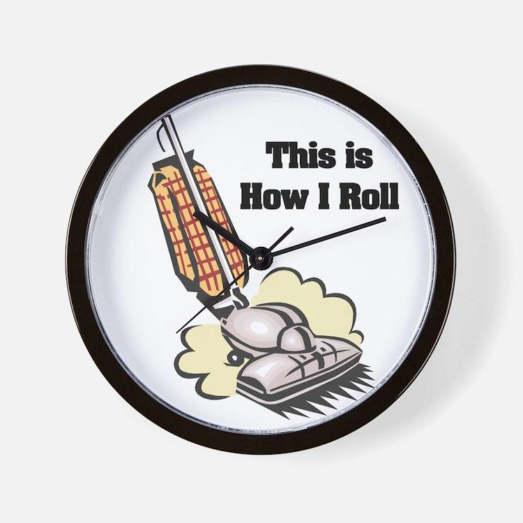 How I Roll (Vacuum Cleaner) Wall Clock