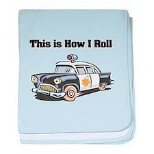 How I Roll (Police Car) Infant Blanket