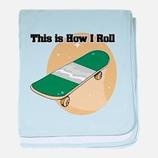 How I Roll (Skateboard) Infant Blanket