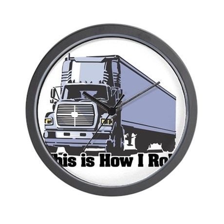 How I Roll (Tractor Trailer) Wall Clock