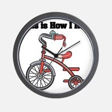 How I Roll (Tricycle) Wall Clock