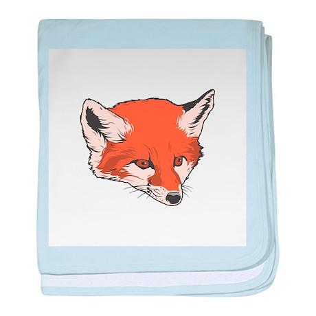Baby Fox Head Infant Blanket