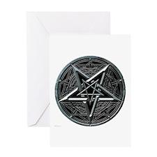 Silver Pentagram Greeting Card