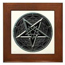 Silver Pentagram Framed Tile
