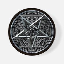 Silver Pentagram Wall Clock