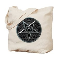 Silver Pentagram Tote Bag