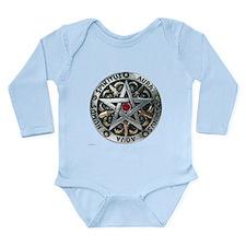 Silver Pentagram Long Sleeve Infant Bodysuit