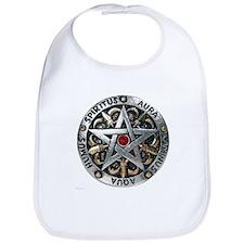 Silver Pentagram Bib