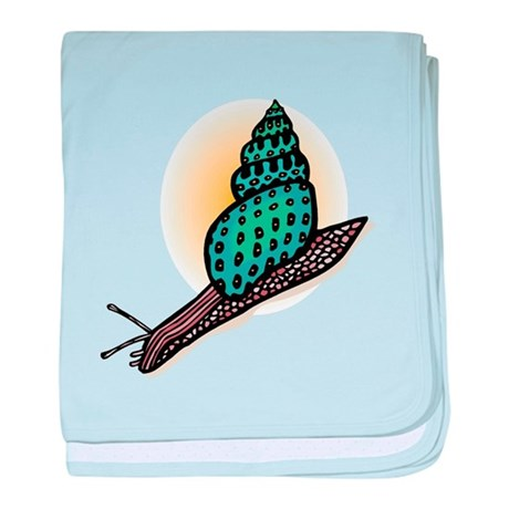 Pretty Turquoise Snail Infant Blanket
