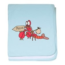 Lobster Moving to Maine Infant Blanket