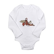 Lobster Moving to Maine Long Sleeve Infant Bodysui