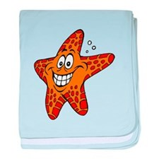 Happy Smiling Starfish Infant Blanket