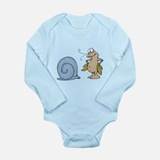 Hermit Crab Out of His Shell Long Sleeve Infant Bo