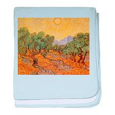 Van Gogh Olive Trees Yellow Sky And Sun baby blank