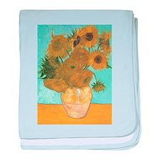 Van Gogh Vase with Sunflowers baby blanket