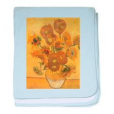 Van Gogh Vase w Sunflowers baby blanket